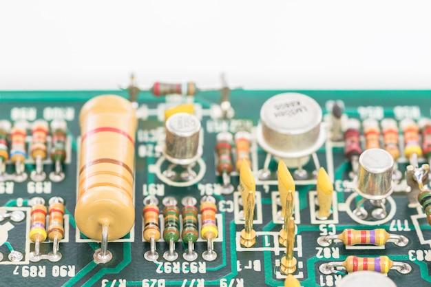 Schließen sie herauf elektronische leiterplatte