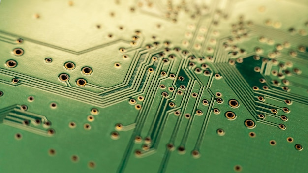 Schließen sie herauf grünen technologischen hintergrund