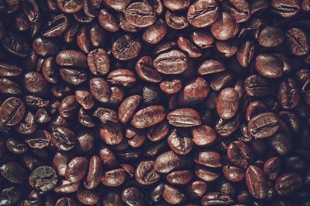 Schließen sie herauf kaffeebohnehintergrund