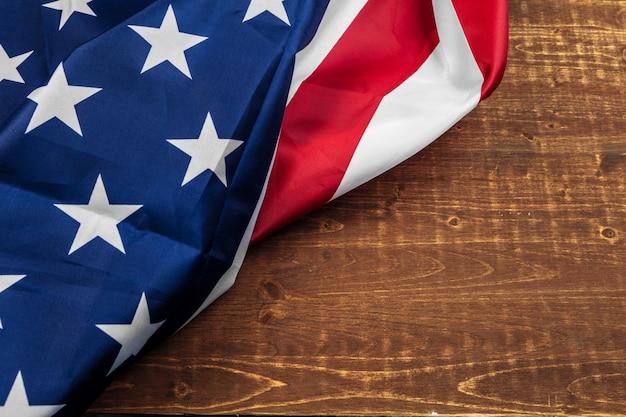 Schließen sie herauf schuss der amerikanischen usa-flagge