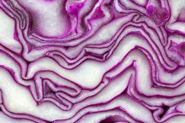 Schließen sie herauf textur des purpurkohls