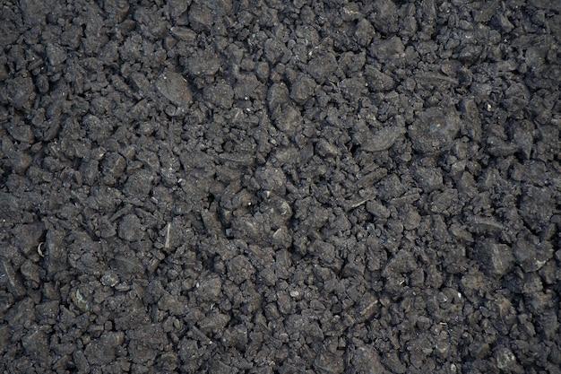 Schließen sie herauf vollrahmen-schuss schwarzer asphalt-straßenboden-texturhintergrund
