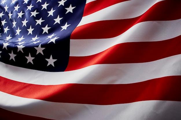 Schließen sie herauf welle der amerikanischen flagge