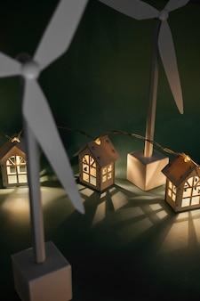 Schließen sie herauf windmühlenprojekt