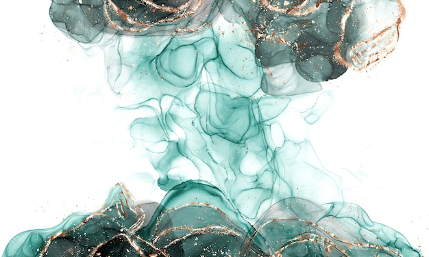 Schließen sie oben auf abstrakte flüssige kunst der alkoholtinte