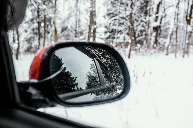Schließen sie oben autospiegel