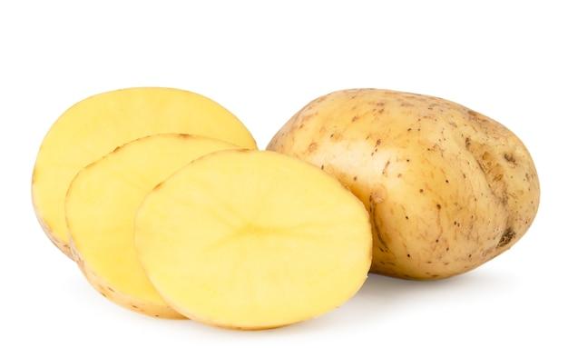 Schließen sie oben kartoffeln auf dem tisch