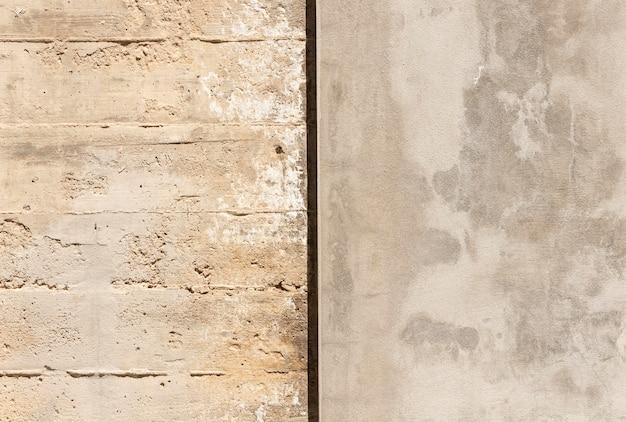 Schließen sie oben stein und betonmauer