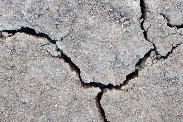 Schließen sie oben vom trockenen gebrochenen bodenoberflächenhintergrund