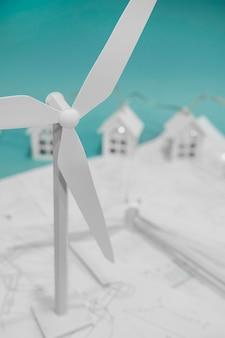 Schließen sie oben windmühlenprojekt