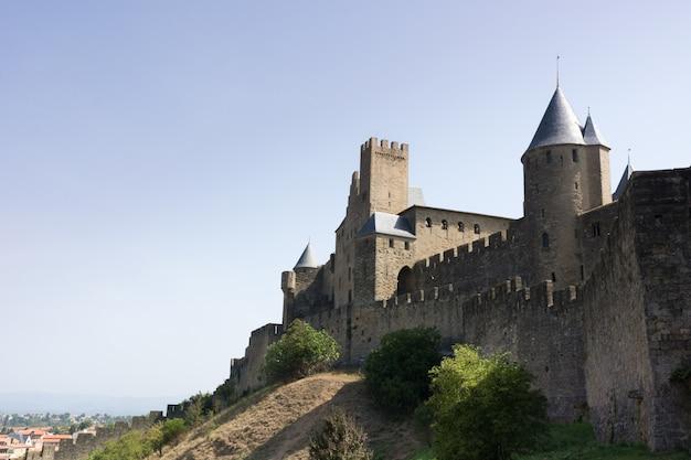 Schloss der stadt carcassonne