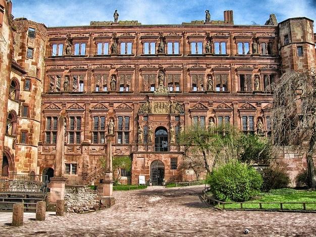 Schloss heidelberg gebäude deutschland palast