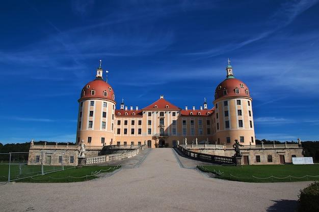 Schloss moritzburg in deutschland, sachsen