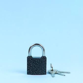 Schloss und schlüssel wie symbol des sicherheitskonzepts.