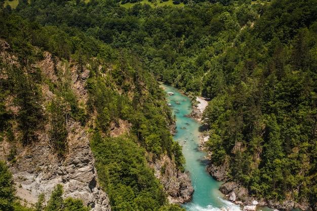 Schlucht des flusses tara in den bergen von montenegro