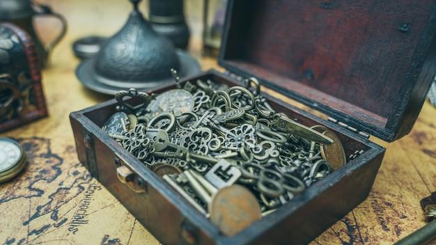 Schlüssel in schatzkiste