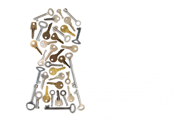 Schlüsselloch der schlüssel isoliert.