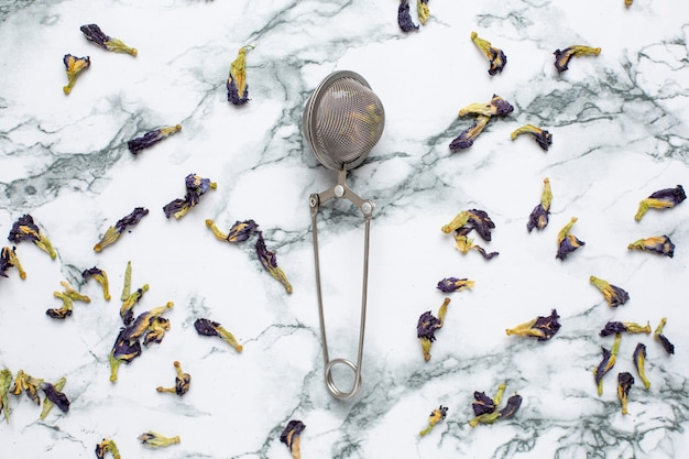 Schmetterlingserbse tee erbse blumen, blaue erbse für gesundes trinken