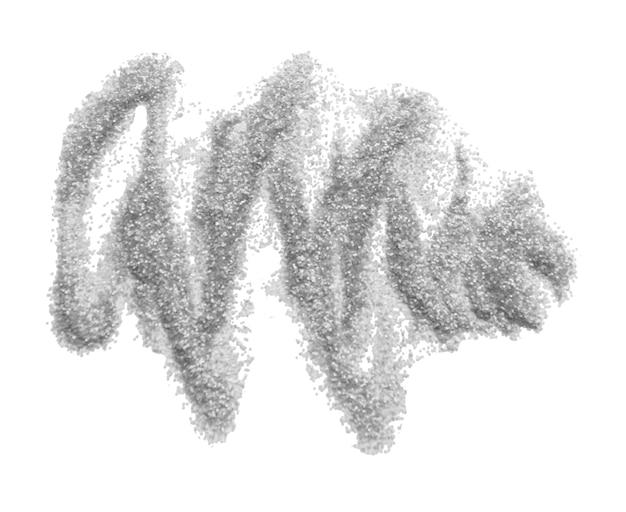 Schmiere kleine funkelnde pailletten auf ein weiß. ultimative graue farbe des jahres 2021