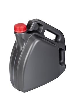 Schmieröl-plastikflasche isoliert auf weißem hintergrund