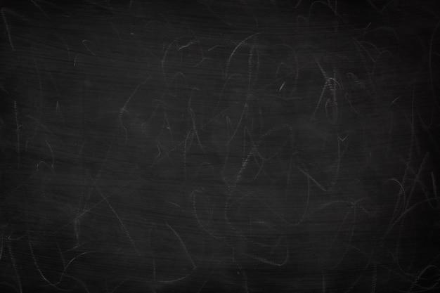 Schmutzige beschaffenheit des schwarzen schmutzes mit copyspace. abstrakte kreide rieb heraus auf tafel- oder tafelhintergrund. tapezieren sie mit leeren schablonen- und kreidespuren oder massagekonzept für ihr ganzes design.