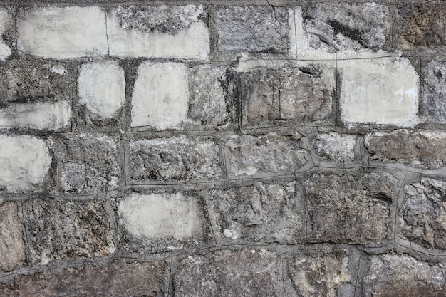 Schmutziger gealterter steinblockzementwandgestaltungs-beschaffenheitshintergrund.