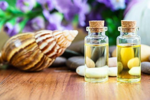Schnecken- und flaschenöl