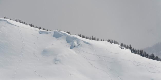 Schnee bedeckte berge, pfeifer, britisch-columbia, kanada