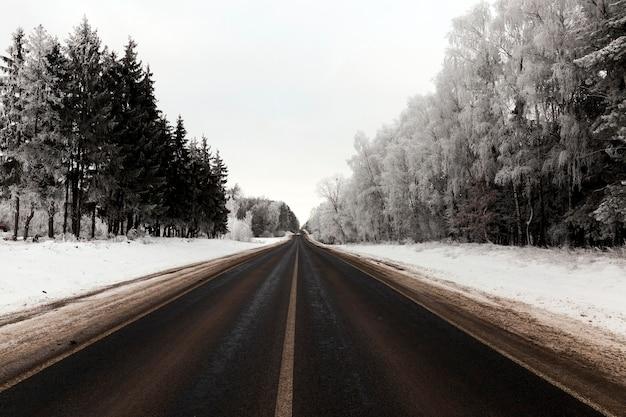 Schnee in der wintersaison fotografiert