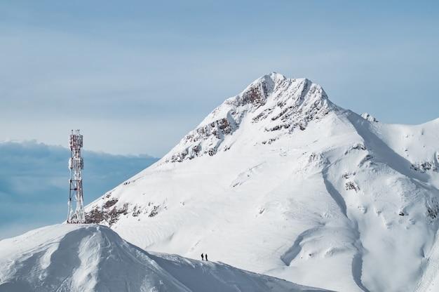 Schneeberge von krasnaya polyana