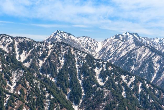 Schneebergkette bei tateyama kurobe alpine route.