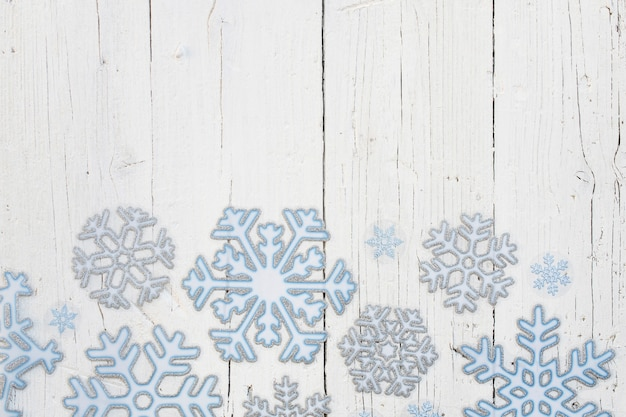 Schneeflocken mit kopierplatz oben