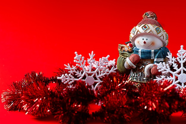 Schneemann, weihnachtsspielzeug, frohes neues jahr