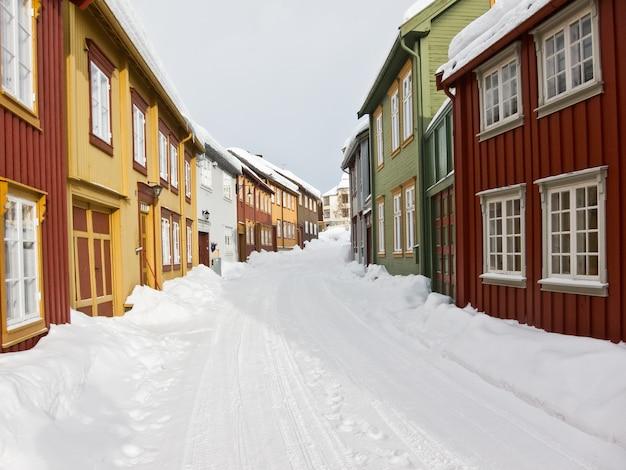 Schneestadt norwegen
