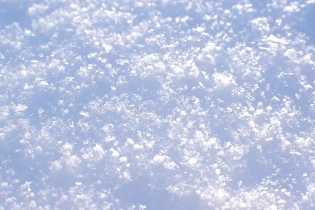 Schneetextur. schneebedecktes land. weicher fokus.