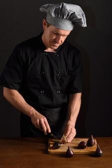 Schneiden eines chefs feigen
