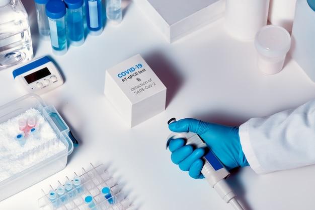 Schnelles neuartiges covid-19-coronavirus-testkit. 2019 ncov pcr diagnosekit.
