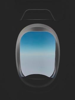 Schön vom blauen himmel über den wolken