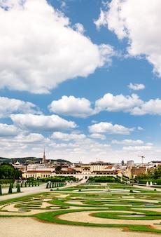 Schönbrunner park, blick über wien