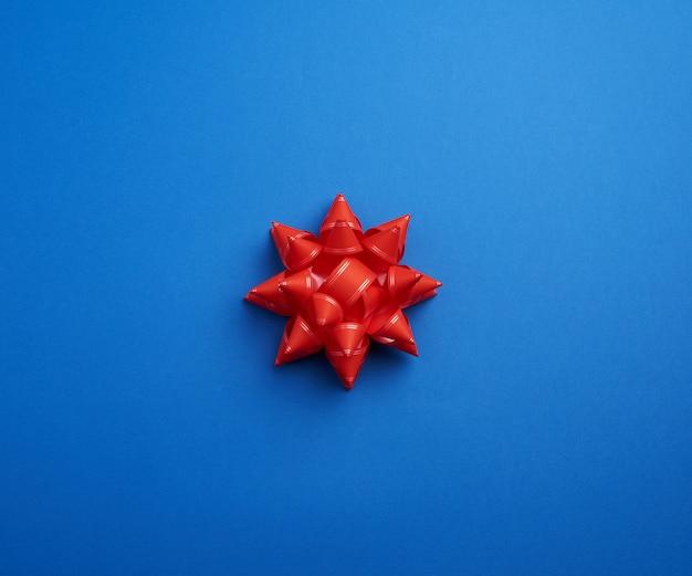 Schöne abstrakte blaue schablone mit rotem bogen