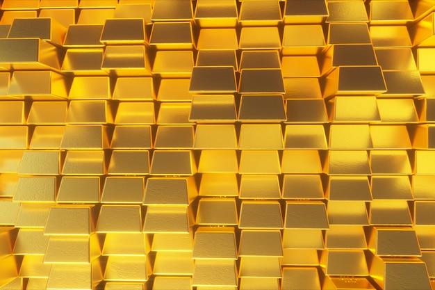 Schöne abstrakte goldene würfel