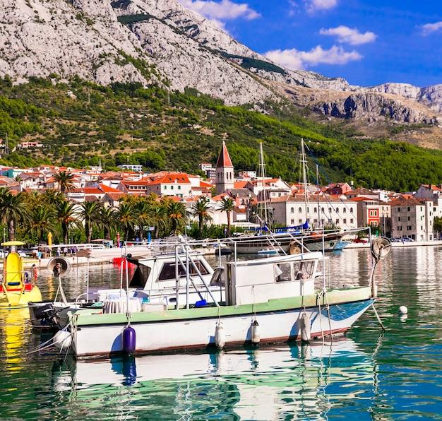 Schöne adria küste makarska riviera in kroatien makarska stadt