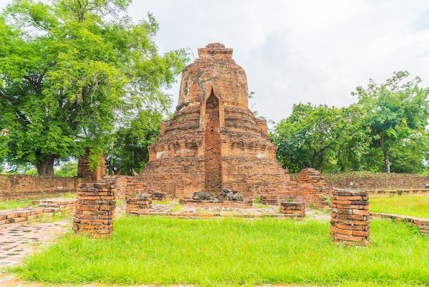 Schöne alte architektur historische von ayutthaya in thailand