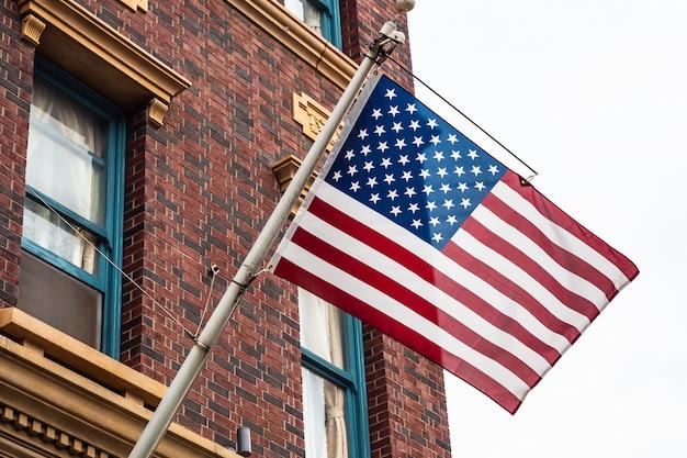Schöne amerikanische oder usa-flagge