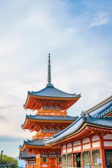 Schöne architektur in kiyomizudera kyoto, japan