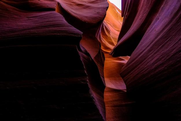 Schöne aufnahme des antelope canyon in arizona - perfekt für