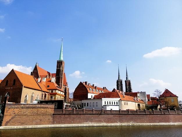 Schöne aufnahme von bastion ceglarski in wrocław, polen