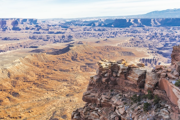 Schöne aussicht auf den canyonlands national park utah die usa