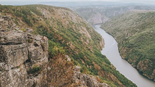 Schöne aussicht auf den sil canyon in spanien