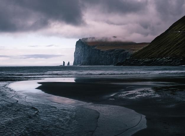 Schöne aussicht auf die färöer